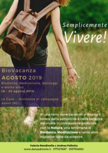 BIOVACANZA Agosto 2019 ad Assisi @ Assisi